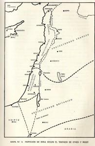 Mapa tratado sykes y picot
